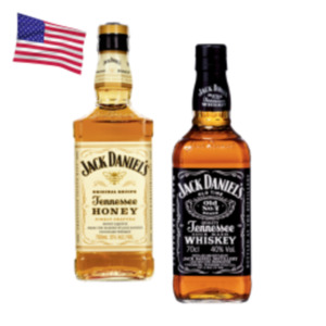 Jack Daniels Tennessee Whiskey, Apple, Honey oder  Fire