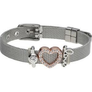 MANGUUN Damen Armband, Edelstahl/Metall