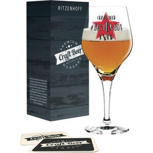 """Ritzenhoff Bierglas """"Craft Beer Design: Best Buddy, G. Weirich"""", inklusive 5 Bierdeckel"""
