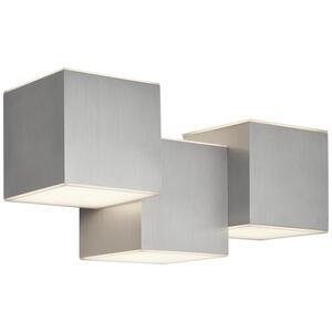 AEG Led-wandleuchte , Aeg181204 Gillan Led , Alufarben , Metall, Kunststoff , 20x21 cm , 005394001204