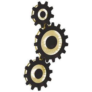 Wofi Led-wandleuchte , 4215.03.15.9000 , Braun, Goldfarben , Metall , 31.3x52.5x6 cm , 003131080503