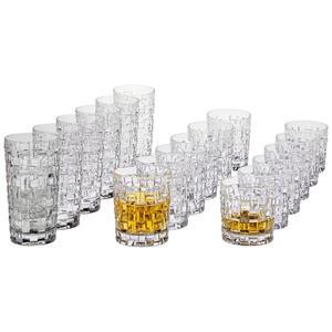 Nachtmann Gläserset 18-teilig , 103000 Bossa Nova , Glas , 37.3x30.1x28.2 cm , klar , 0045460300