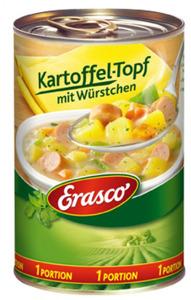 Erasco 1 Portion Kartoffel-Topf mit Würstchen 400 g