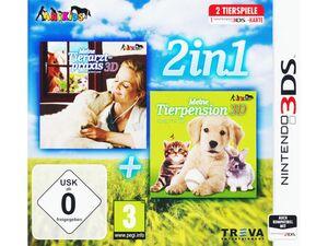 BRAUN HANDELS GMBH 2 in 1: Meine Tierpension 3D: Tapsige Tierbabys + Meine Tierarztpraxis 3D: Einsatz auf dem Land - Konsole 3DS