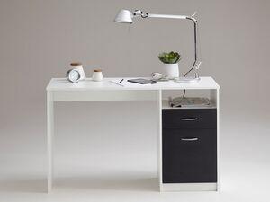 FMD Schreibtisch mit Tür, Schubkasten, offenes Ablagefach, Spanplatte