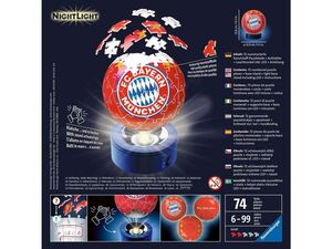 Ravensburger 3D Puzzleball FC Bay.Münch.+Lightstand