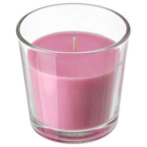 SINNLIG Duftkerze im Glas, Kirschen/leuchtendrosa