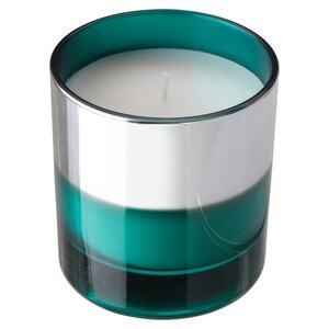 HOPFOGA Duftkerze im Glas, sommerlich/türkis