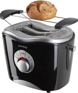 Privileg Toaster 568811, 2 kurze Schlitze, für 2 Scheiben, 860 W, schwarz