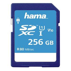 Hama SDXC Speicherkarte 256 GB, Class 10 UHS-I 80MB/s »SD Memory Card«