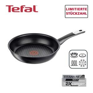 """Brat- oder Wokpfanne """"Exception"""" · Widerstandsfähige TEFAL-Titanium-Tech+® Antihaft-Versiegelung · Starker Induktionsboden mit eingearbeiteter ferromagnetischer Edelstahlplatte für perfekte Hitz"""
