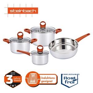 """Kochtopf-Set """"Sandili"""" · 4-teilig · bestehend aus je 1 Topf, ca. 20 und 24 cm Ø, 1 Stielkasserolle, ca. 16 cm Ø und 1 Bratpfanne, ca. 24 cm Ø"""
