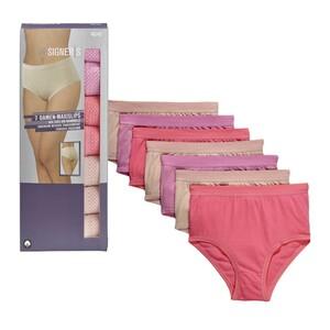 Herren-Slips oder Damen-Maxislips 100 % Bio-Baumwolle, versch. Größen, 7er-Pack, je