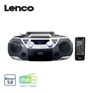 XXL DAB+-Radio SCD-720 mit Bluetooth® · CD-Player, MP3, Kassettenrecorder · PLL-FM-Radio · 2 x 6 Watt RMS · USB-/Aux-/Kopfhöreranschluss · Batterie- und Netzbetrieb  *Logo: DAB_Plus_2017 + Ico