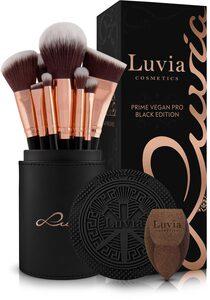 Luvia Cosmetics Kosmetikpinsel-Set »Prime Vegan Pro Black Edition«, 15 tlg.