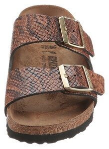 Birkenstock »Arizona Snake« Pantolette aus Leder, Schuhweite: schmal