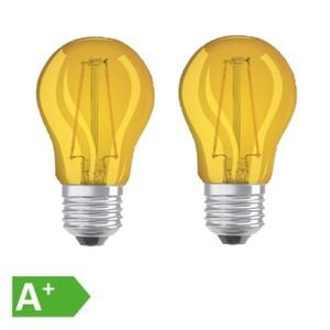 Osram LED Filament Leuchtmittel Tropfen bunt 1,6W = 15W E27 gelb 2er Set