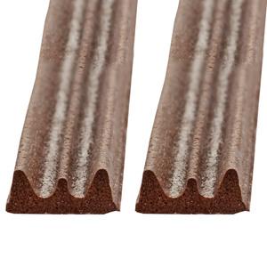 Powertec Energy Gummi-Dichtung E-Profil je ca. 2 x 5 m, Braun - 2er-Set