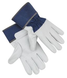 Kraft Werkzeuge Ziegenleder-Handschuhe, Größe 10 - Blau/Weiß