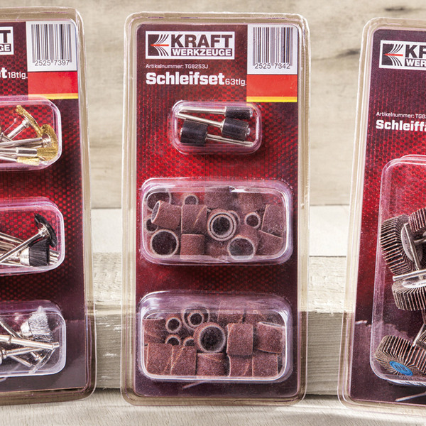 Kraft Werkzeuge Schleifset - 63 teilig
