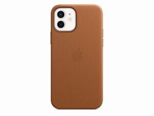 Apple iPhone Leder Case mit MagSafe, für iPhone 12/12 Pro, sattelbraun