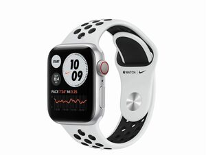 Apple Watch Nike Series 6, Cellular, 40 mm, Alu. silber, Sportb. platinum/schw.