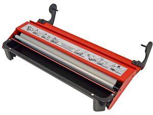 Lehnartz Kleistergerät, Metallausführung mit Kleisterwalze und Tischklammern
