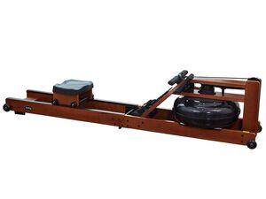 body coach Wasser-Rudergerät aus dunklem Holz faltbar