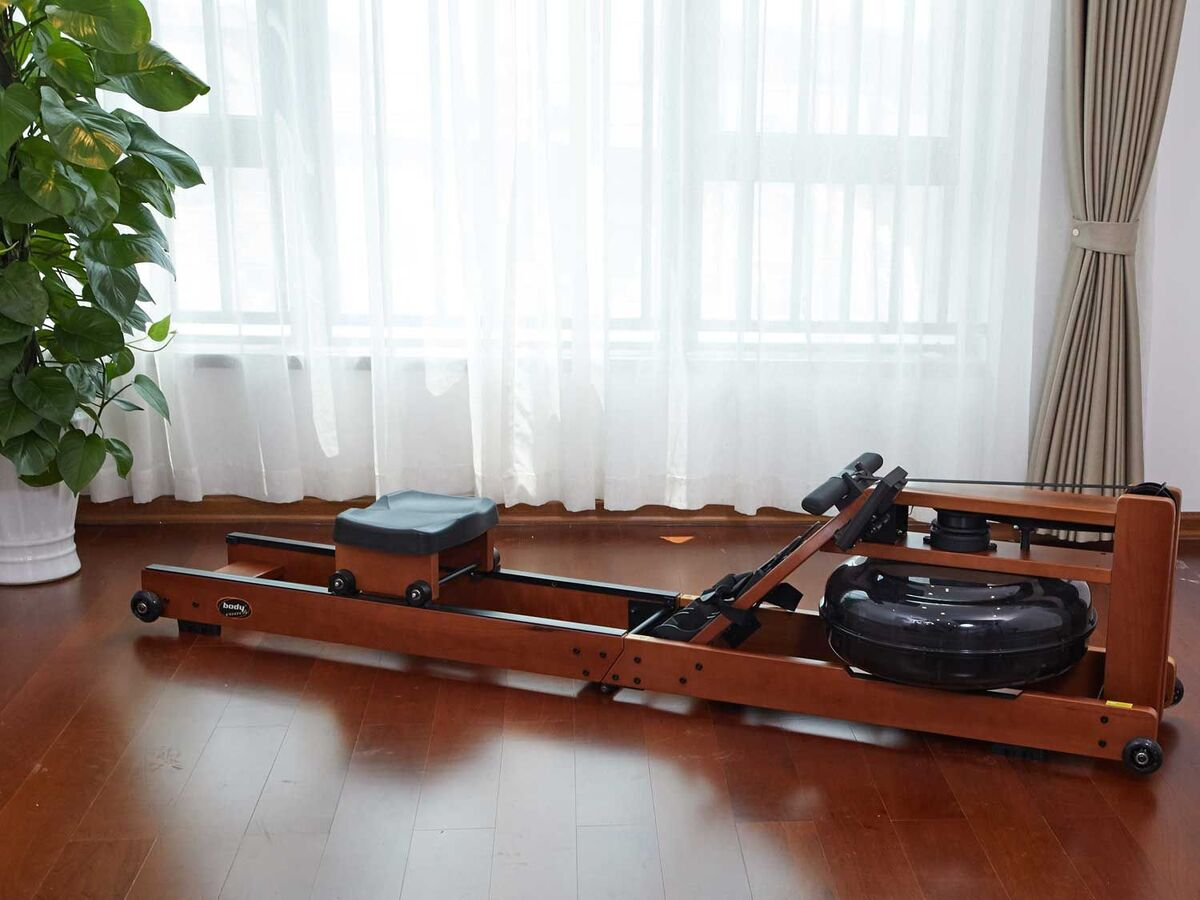 Bild 2 von body coach Wasser-Rudergerät aus dunklem Holz faltbar