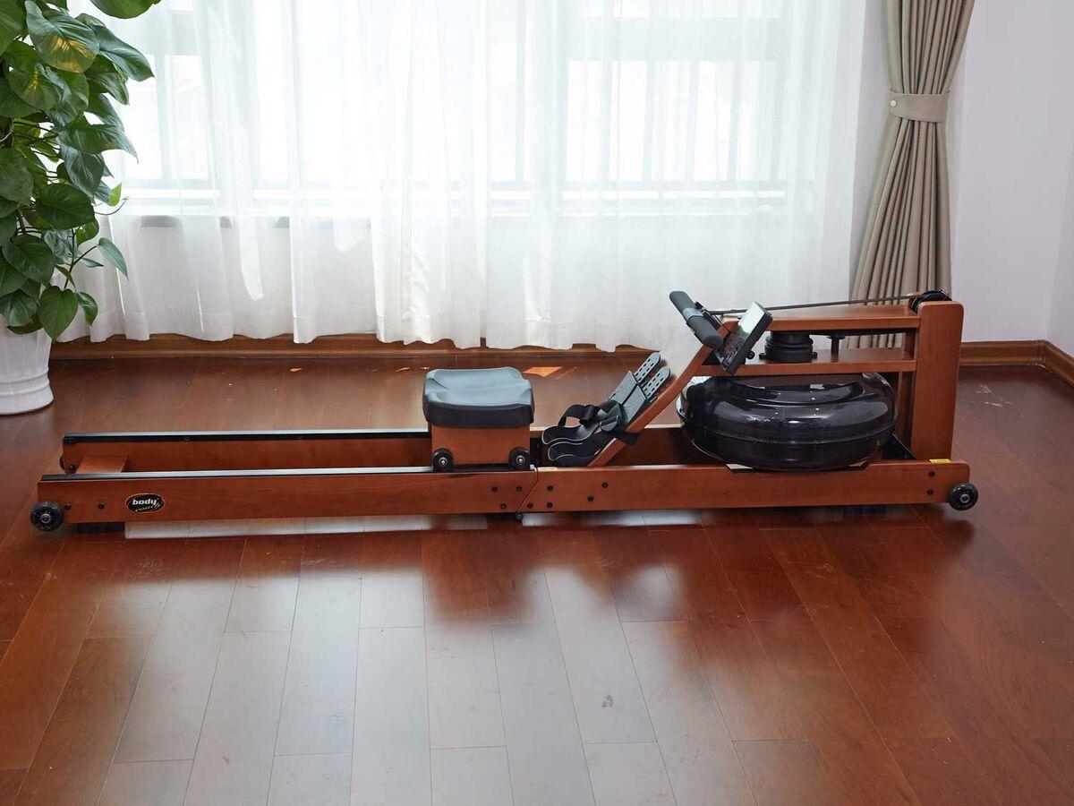 Bild 3 von body coach Wasser-Rudergerät aus dunklem Holz faltbar