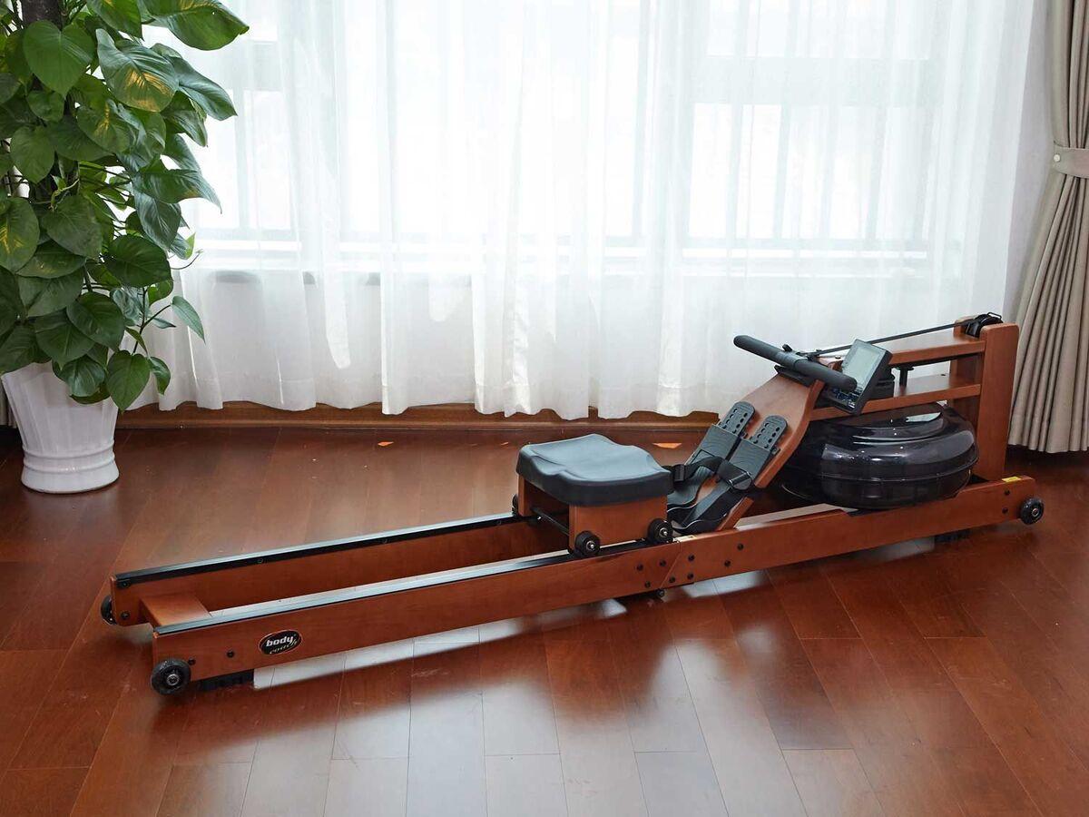 Bild 4 von body coach Wasser-Rudergerät aus dunklem Holz faltbar