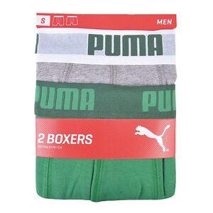 Puma Retroshorts 2er grau/grün, Gr. S