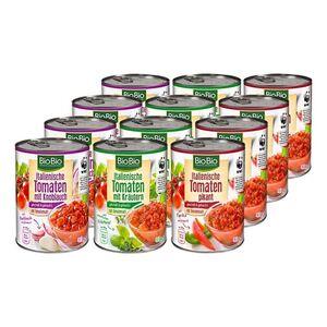 BioBio Tomaten gewürzt 400 g, verschiedene Sorten, 12er Pack