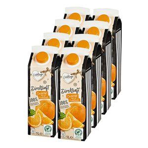 Lieblings Orangendirektsaft 1 Liter, 8er Pack