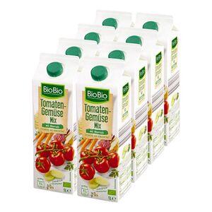 BioBio Tomaten-Gemüse-Mix 1 Liter, 8er Pack