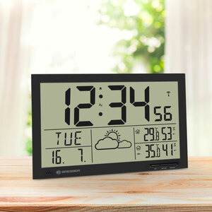 LCD-Wetter-Wanduhr Bresser MyTime Jumbo