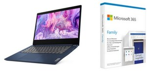 "IdeaPad 3 14IIL05 (81WD00PXGE) 35,6 cm (14"") Notebook abyss blue inkl. MS 365 Family FPP"