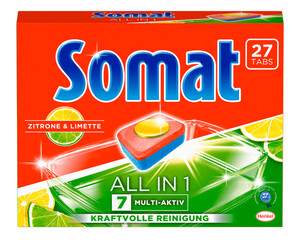 Somat 7 All in 1 Multi-Aktiv Zitrone & Limette 27 Tabs