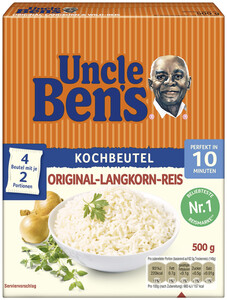 Uncle Ben's Original-Langkorn-Reis 10 Minuten im Kochbeutel 500G
