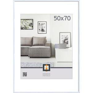 XXXLutz Bilderrahmen weiß , 122012 , Kunststoff, Glas , 51x71 cm , matt,klar , 0043420101