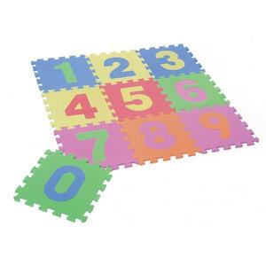 Ben'n'jen BODENPUZZLE Blau, Gelb, Grün, Orange, Rosa, Rot, Pink , Puzzleteppich , Kunststoff , 90x90x1 cm , softmatt , 008683009301
