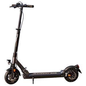 XXXLutz Elektroscooter anthrazit, grau, dunkelgrau , Speedy ONE E-Racer , Metall , 21x114x109 cm , matt, lackiert , Beleuchtung vorne, Beleuchtung hinten, LED Scheinwerfer, integrierter Parkständer,