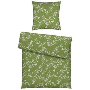Esposa Bettwäsche flanell grün 135/200 cm , Larose , Textil , Floral , 135x200 cm , Flanell , 008528018601
