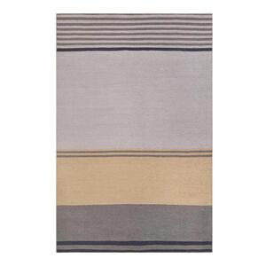 Esprit Flachwebeteppich 60/100 cm braun, grau, orange , Camps Bay , Textil , Streifen , 60x100 cm , für Fußbodenheizung geeignet, in verschiedenen Größen erhältlich, für Hausstauballergiker gee