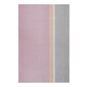 Esprit Flachwebeteppich 80/150 cm grau, orange, rosa, beige , Saltriver , Textil , Streifen , 80x150 cm , für Fußbodenheizung geeignet, in verschiedenen Größen erhältlich, für Hausstauballergik
