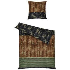 Bassetti Bettwäsche grün , 9311507 Gradara , Textil , Ornament , 155x220 cm , pflegeleicht, bügelleicht , 005639062104
