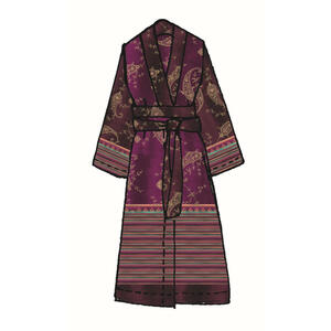 Bassetti Kimono violett , 9311578 Gradara , Textil , Ornament , 005639064104