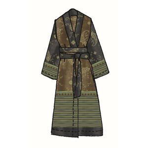 Bassetti Kimono grün , 9311576 Gradara , Textil , Ornament , 005639064105