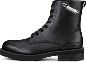 Calvin Klein Jeans, Schnür-Boots Nolly in schwarz, Boots für Damen