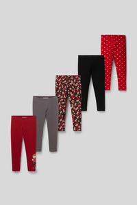 Leggings - Bio-Baumwolle - 5er Pack
